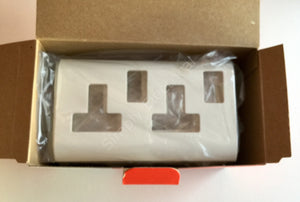 Job lot of Legrand Mosaic Cover Plate for 2 Gang 13A Switched Socket - 575100 - from £2.38/unit