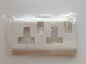 Legrand Mosaic Cover Plate for 2 Gang 13A Switched Socket - 575100 - from £2.38/unit