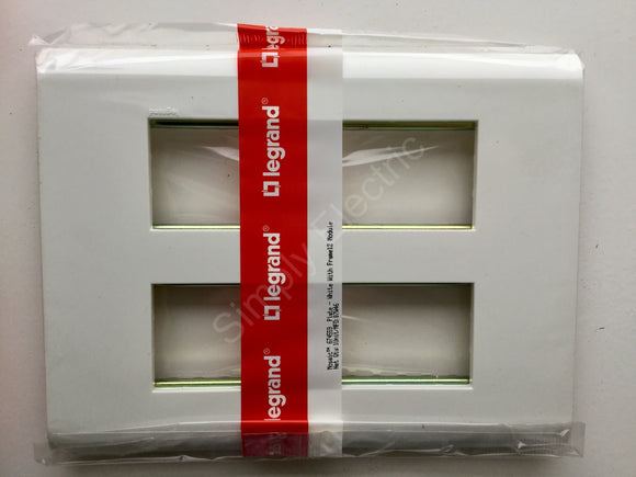 Job lot of Legrand Mosaic Cover Plate in White with Frame 12 Modules - 674559 - from £12/unit
