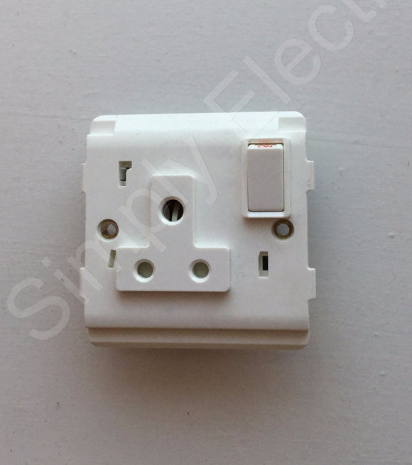 Legrand Mosaic DP Switched Socket 5a-250v (round holes) - 74125 - from £5.76/unit