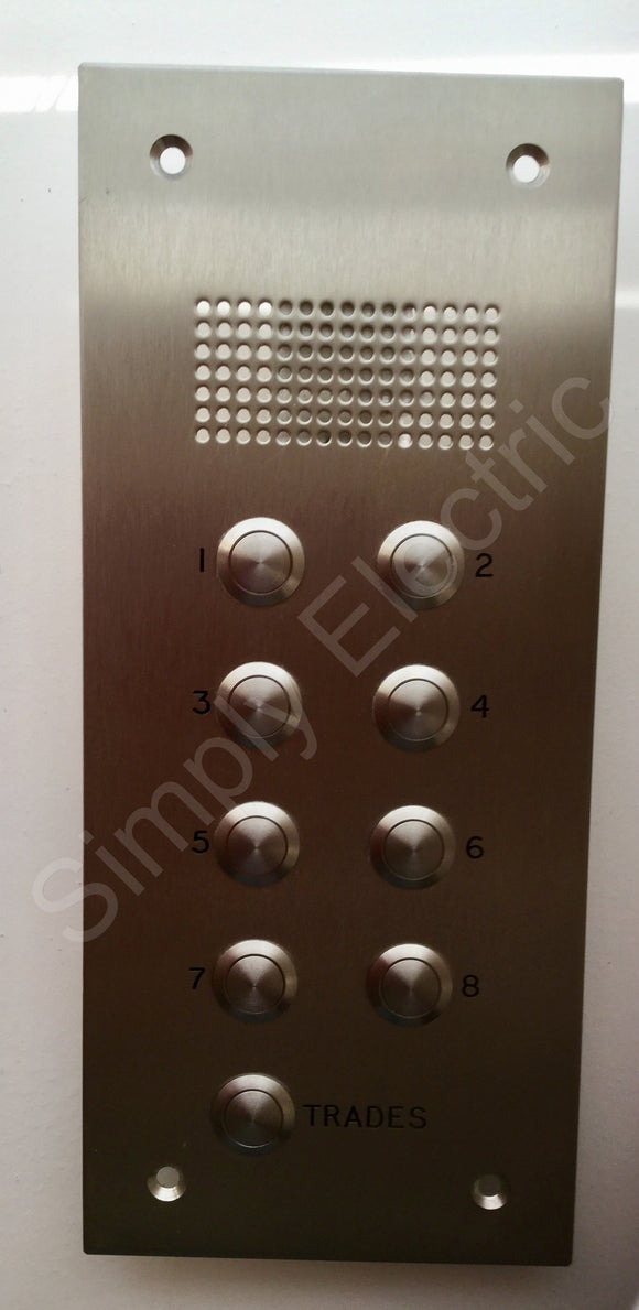 Intercom unit in stainless steel front - AV58821067