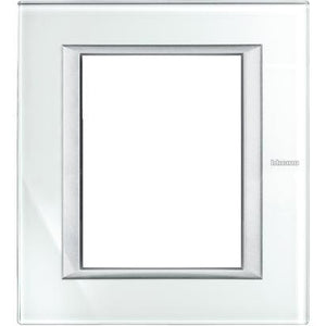 5x Bticino Axolute Cover Plate 3x3 Modules Silver - HA4826VSW - £16.16/unit