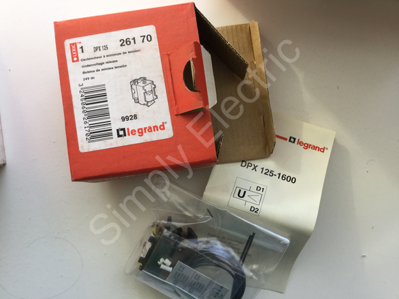 Legrand Undervoltage Release 24v DC - 26170 - From £9.80/unit