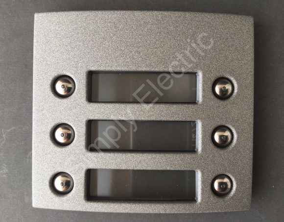 Terraneo Intercom Front Cover 3 Double pushbuttons Graphite- 332463 - from £13/unit