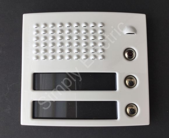Terraneo Intercom Front Cover Module White 2 Single Pushbuttons - 332122 - from £13/unit