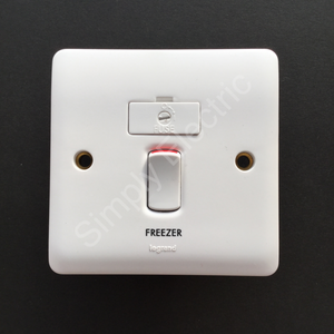 10x Legrand 13A Fused Connection Unit DP with LED indicator Switched Marked 'Freezer' - 730034FZ - From £3/unit