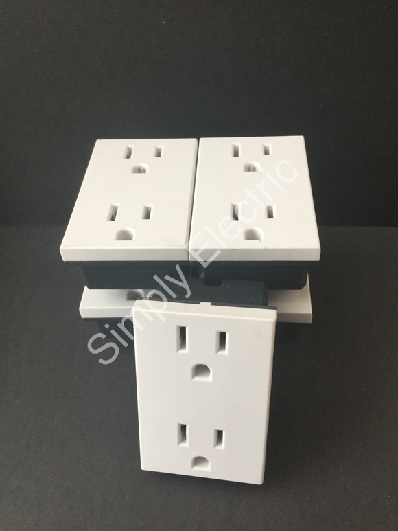 Legrand Double US socket Module 15a White -74179 - From £2.70/unit