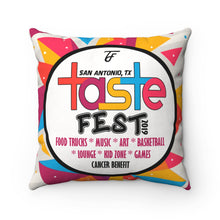 Load image into Gallery viewer, Taste Fest Spun Polyester Square Pillow