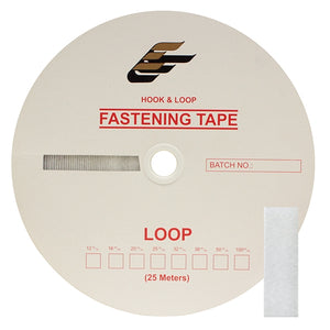 "Fastening Tape 5/8"" ( 16 mm ) Loop White Sew On Jef Brand 1 Roll 25 Meters"
