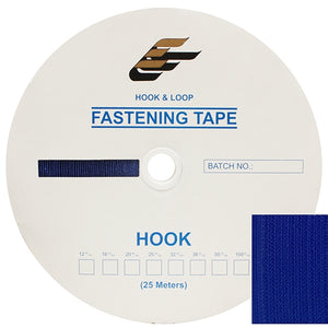 "Fastening Tape 1"" ( 25 mm ) Hook Royal Blue Sew On Jef Brand 1 Roll 25 Meters"