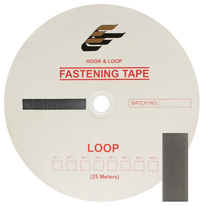 "Fastening Tape 3/4"" ( 20 mm ) Loop Grey Sew On Jef Brand 1 Roll"
