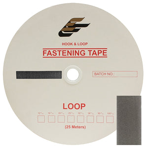 "Fastening Tape 1"" ( 25 mm ) Loop Grey Sew On Jef Brand 1 Roll 25 Meters"