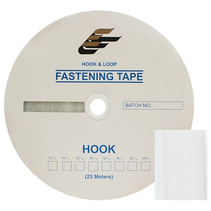 "Fastening Tape 1-1/2"" ( 38 mm ) Hook White Sew On Jef Brand 1 Roll 25 Meters"