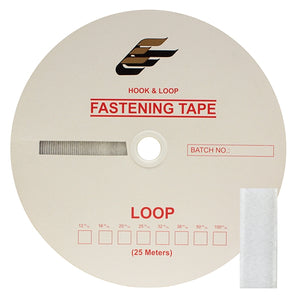 "Fastening Tape 3/4"" ( 20 mm ) Loop White Sew On Jef Brand 1 Roll"