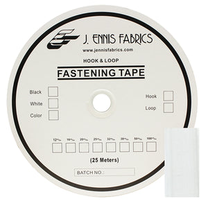 "Fastening Tape 1"" ( 25 mm ) Hook White Sew On Jef Brand 1 Roll 25 Meters"