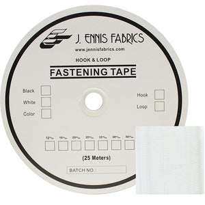 "Fastening Tape 2"" ( 50 mm ) Hook White Sew On Jef Brand 1 Roll 25 Meters"