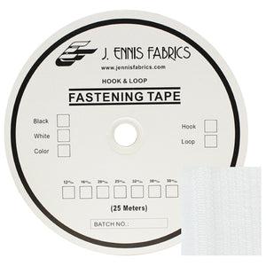 "Fastening Tape 4"" ( 100 mm ) Hook White Sew On Jef Brand 1 Roll 25 Meters"