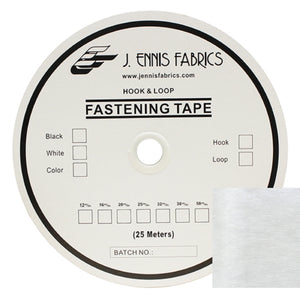 "Fastening Tape 4"" ( 100 mm ) Loop White Sew On Jef Brand 1 Roll 25 Meters"
