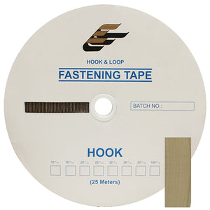 "Fastening Tape 3/4"" ( 20 mm ) Hook Beige Sew On Jef Brand 1 Roll"