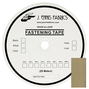 "Fastening Tape 1-1/2"" ( 38 mm ) Hook Beige Sew On Jef Brand 1 Roll 25 Meters"