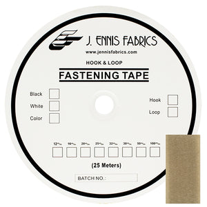 "Fastening Tape 1-1/2"" ( 38 mm ) Loop Beige Sew On Jef Brand 1 Roll 25 Meters"