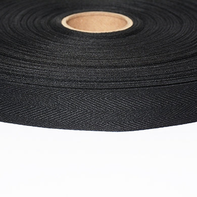 Twill Tape Black Polyester Binding and Edging Tape 2 sizes 3/4