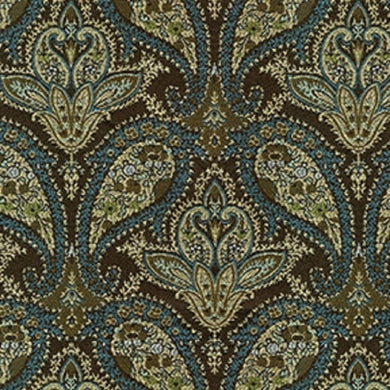 Marie Upholstery Fabric Traditional Paisley Pattern Design Woven Jacquard 5 Colors