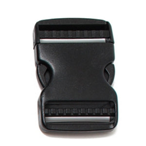 Webbing Buckles Dual Adjustable Side Release Buckles Delrin Black  Pack of 25 Pieces 2 Sizes