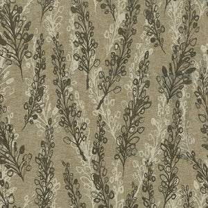 Nemo Upholstery Fabric Layered Fronds Design on Linen Background 4 Colors