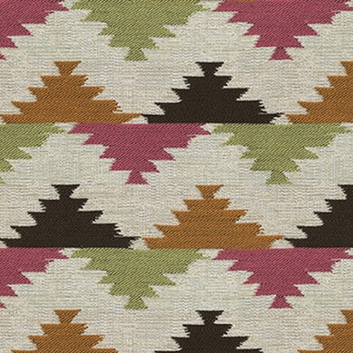 Ashleigh Upholstery Fabric Contemporary Fabric with Ikat Design Woven Jacquard 5 Colors