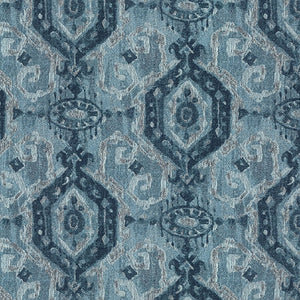 Adonis Upholstery Fabric Ethnic Medallion Distressed Effect Woven Jacquard 4 Colors