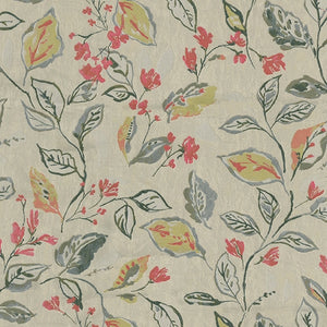 Hazel Upholstery Fabric Watercolor Foliage Woven Jacquard 5 Colors