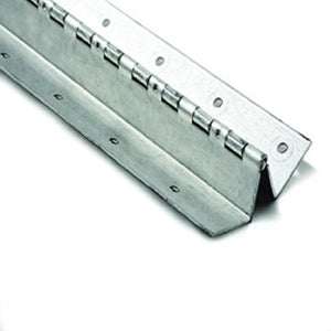 "Boat Seat Hinge W Style Aluminum for 2 lengths of 4-1/4"" x 6 Feet Long"