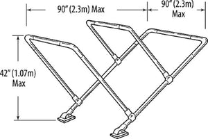 "Bimini Top Frame Kit 3 Bar 7/8"" Aluminum Tubing Frame Boat Top with Hardware"