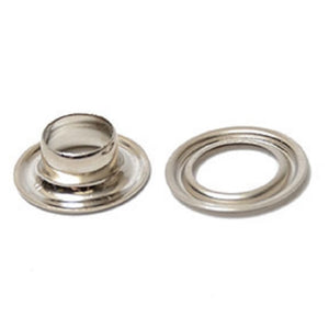 "Grommets - Self Piercing Nickel Plated Grommet and Washer Sizes from 5/16"" to 1/2"" Pack of 100"