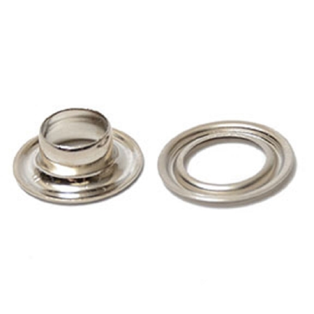 Grommets - Self Piercing Nickel Plated Grommet and Washer Sizes from 5/16
