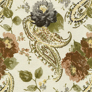Maiden Upholstery Fabric Floral Paisley Design Woven Jacquard Fabric 4 Colors