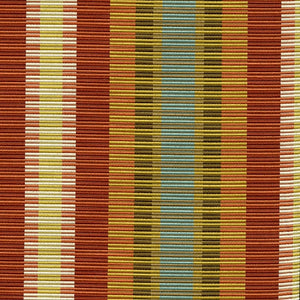 Hollywood Upholstery Fabric Multicolored Rep Weave Stripe Woven Jacquard 4 Colors