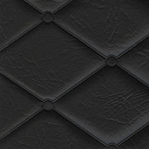 Mayfair 7 Black Diamond Pattern Quilted Heat Sealed Vinyl Upholstery