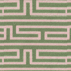Pathway Upholstery Fabric Geometric Maze Formation Woven Jacquard 5 Colors
