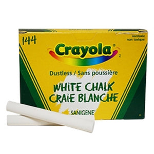 Sanigene Chalk - White and Yellow Dustless Chalk Board Chalk Box of 144 Pieces