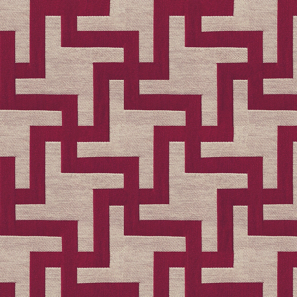 Martin Upholstery Fabric Woven Jacquard Geometic Houndstooth Pattern 6 Colors