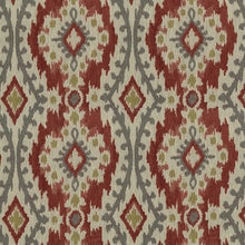 Load image into Gallery viewer, Whistler Upholstery Fabric Chenille Medallion Panel with Ikat Effect Woven Jacquard 5 Colors