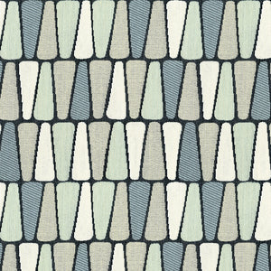 Wallace Upholstery Fabric Flat Geometric Stripe Woven Jacquard 6 Colors