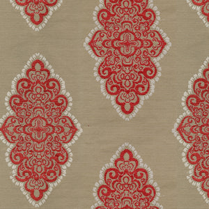 Watson Upholstery Fabric  Multifoil Medallion in Chenille Yarns Woven Jacquard 4 Colors