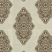 Load image into Gallery viewer, Watson Upholstery Fabric  Multifoil Medallion in Chenille Yarns Woven Jacquard 4 Colors