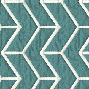 Amos Upholstery Fabric Quilted Jacquard with Chevron Pattern 5 Colors
