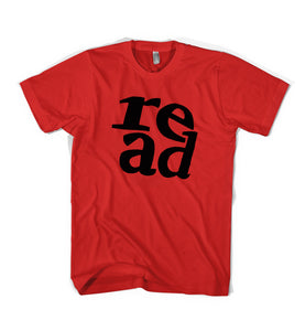 """READ"" Tee - Youth & Adult - Red / Black"