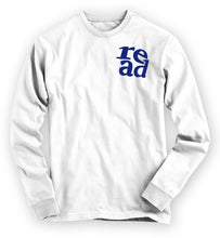 "Load image into Gallery viewer, ""READ"" Long-sleeved Tee - White"