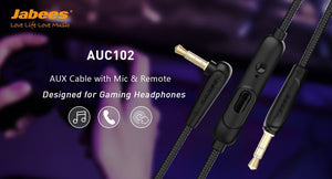 Get In The Game with AUC102 - AUX Cable with Mic and Remote